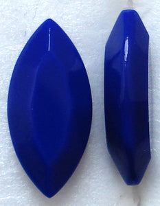 15X7MM OPAQUE NAVY BLUE CHANNELLE CUT MARQUISES