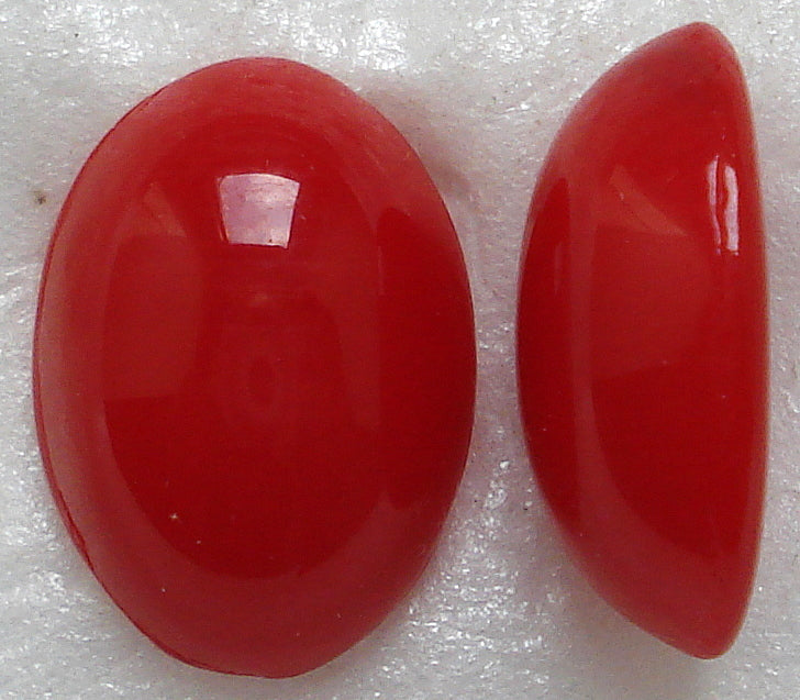 18X13MM (2195) ATLAS CORAL GLASS OVAL CABOCHONS