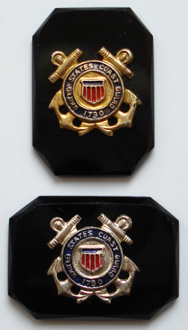 25X18MM US COAST GUARD INSIGNIA CUSHION OCTAGONS
