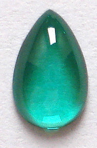 SYNTHETIC EMERALD SPINEL 8X5MM PEAR CABOCHONS