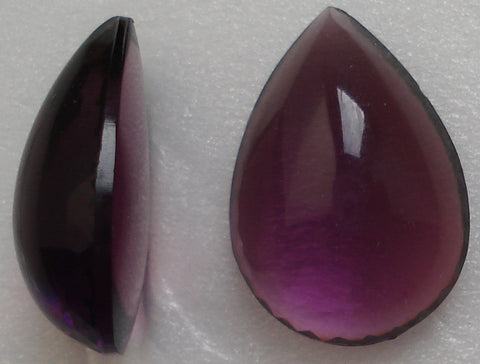 18X13MM AMETHYST BOMBE CUT PEAR/PEND CABS
