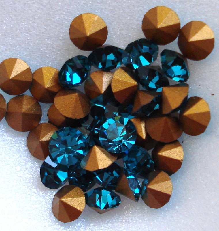 4.75MM (1100 20SS) BLUE ZIRCON PB RHINESTONES