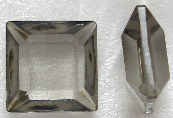 8MM BLACK DIAMOND CHANNELLE CUT SQUARES