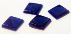6mm (3615) Glass Lapis Low Dome Square Cabochon