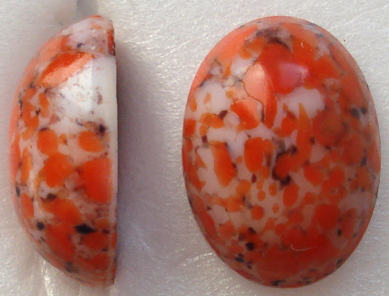14X10MM (1685) CORAL MATRIX OVAL CABOCHONS