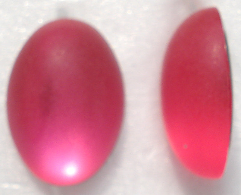 18X13MM ACRYLIC ROSE PINK MATTE OVAL CABS