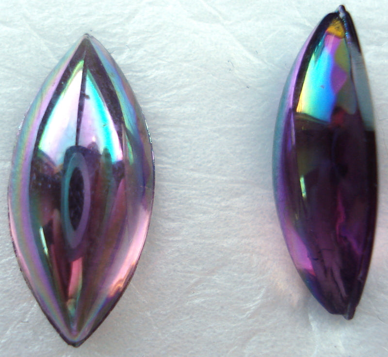 15X7MM AMETHYST AB BOMBE CUT MARQUISE CABS
