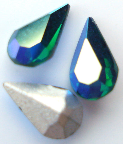 6X3.6MM (4300) EMERALD AB COLOR PB PEARS