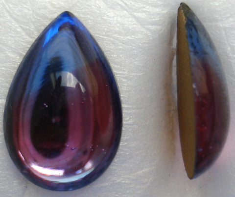 15X10MM BI COLOR LT. SAPP/RUBY FLAT PEAR CABS