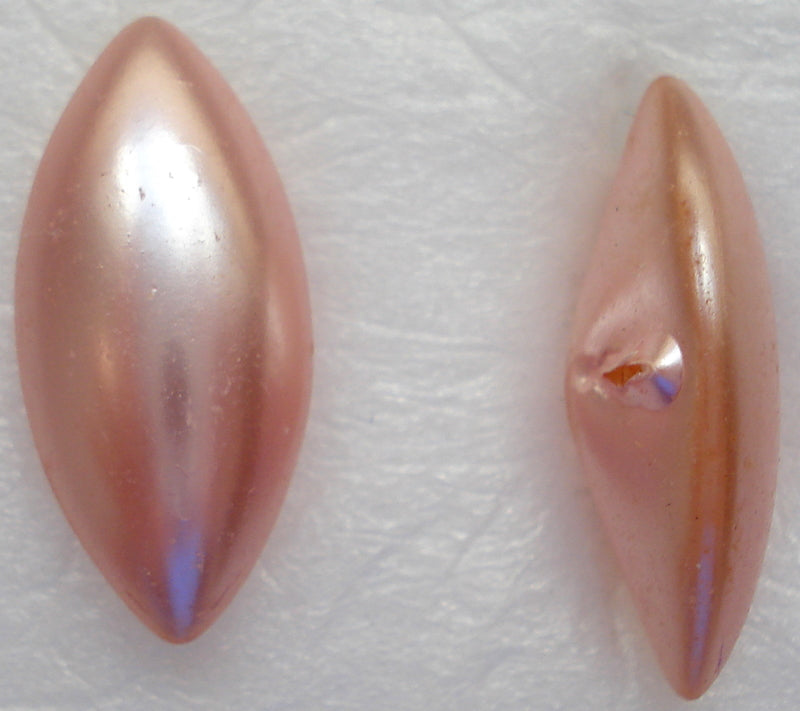 15X7MM PINK PEARL BUFF TOP DOUBLET MARQUISES