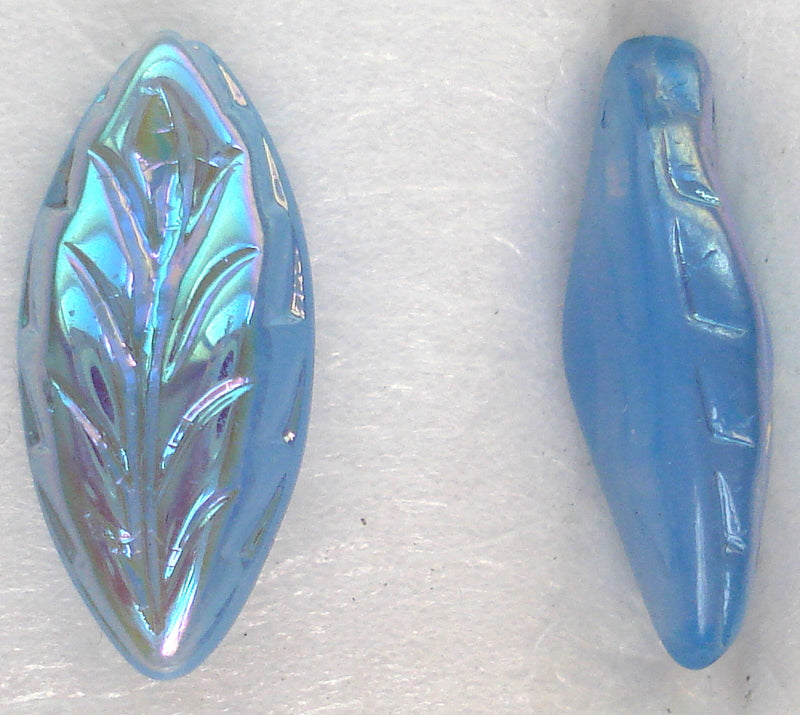 15X7MM LIGHT SAPPHIRE AB BTD MARQUISE LEAVES