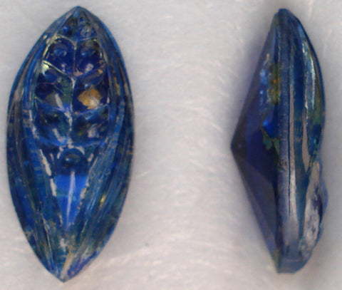 15X7MM BLUE OPAL COLOR BTD MARQUISE LEAVES