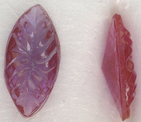 15X7MM FUCHSIA BTD MARQUISE LEAVES