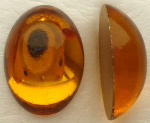 18X13MM (2195) GLASS TOPAZ OVAL CABOCHONS