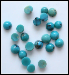 3.0-3.5mm Natural Turquoise Rd Cabochons