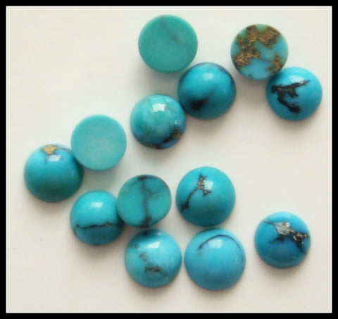 4.0mm Natural Turquoise Rd Cabochons