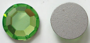 8.4-8.7MM (2000) 40SS PERIDOT RD FLAT BACKS