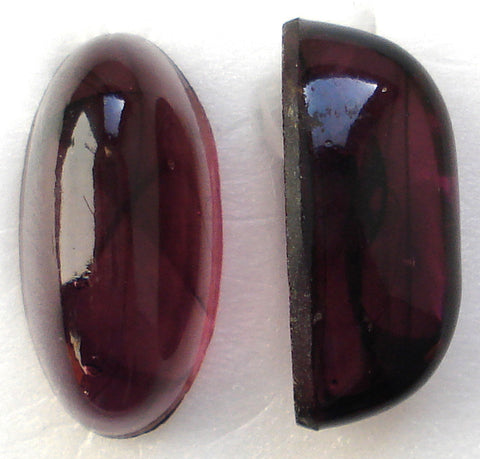 22X11MM (1685) AMETHYST 9MM HIGH DOME OVAL CABS