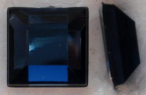 4MM MONTANA SAPPHIRE ACRYLIC  FLAT BACK SQUARES