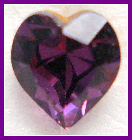 6.6X6MM (4800) AMETHYST HEART SHAPES RHINESTONES