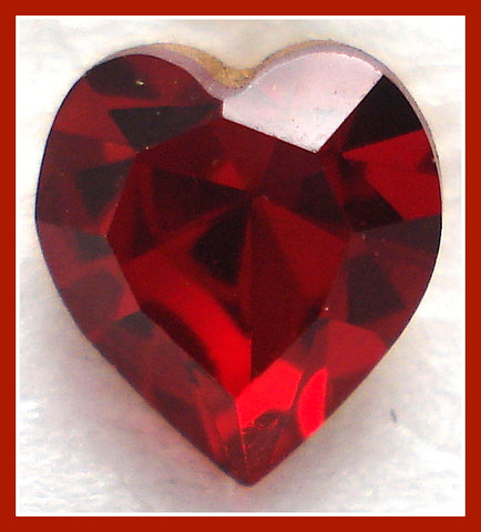 6.6X6MM (4800) SIAM RED HEART RHINESTONES
