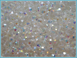 4MM (5004) CRYSTAL AB SWAROVSKI BEADS