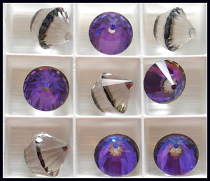 14MM (4866) HELIOTROPE GLASS CUPCAKES