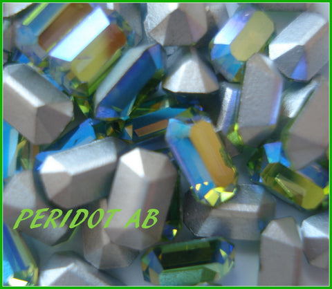 5X3MM (4600) PERIDOT AB CUSHION OCTAGONS