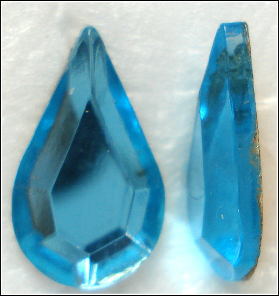 13X7.8MM (2300/2) AQUA FLAT BACK PEARS