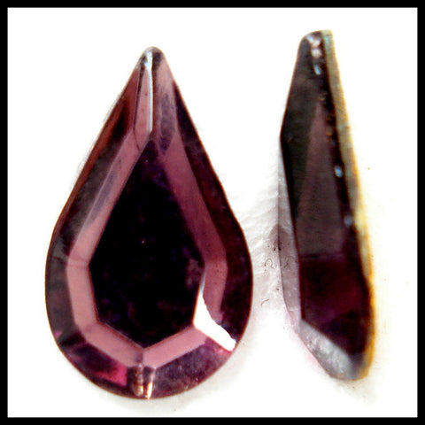 13X7.8MM (2300/2) AMETHYST FLAT BACK PEARS
