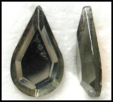 13X7.8MM (2300/2) BLACK DIAMOND FLAT BACK PEARS