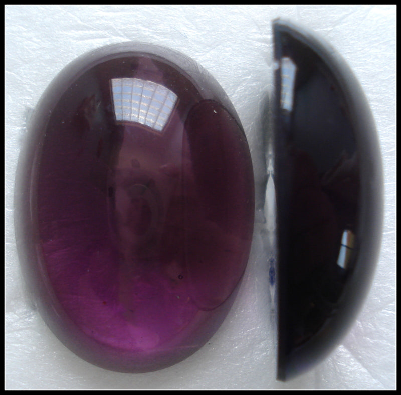 30X22MM (2195) AMETHYST COLOR OVAL CABOCHONS