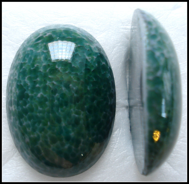 30X22MM (1685) OVAL GLASS JADE MATRIX