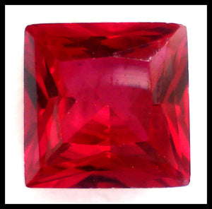 9MM SYNTHETIC RUBY JULY BIRTHSTONE SQUARES