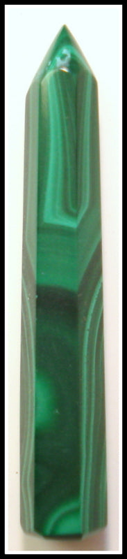 40X6.2MM (S80) NATURAL MALACHITE PILLAR