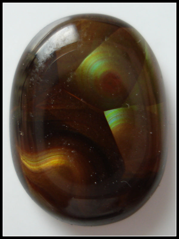 FIRE AGATE 14.2X10.3MM NATURAL CABOCHON