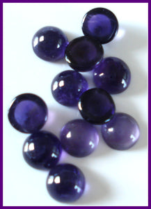 5MM NATURAL AMETHYST ROUND CABOCHONS