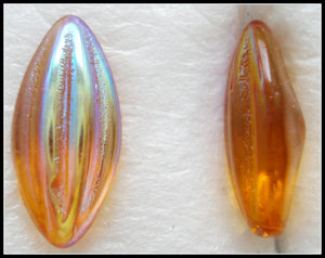 15X7MM (3146) TOPAZ AB RIBBED MARQUISE BTD