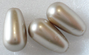 11.5x6MM (5816) IMITATION PLATINUM PEARL HD PEAR SHAPE