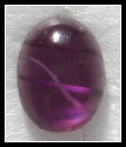 7X5MM (1685) GLASS FLAWED AMETHYST OVAL CABS