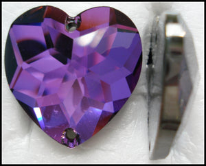 24MM (3285) HELIOTROPE SEW ON HEARTS