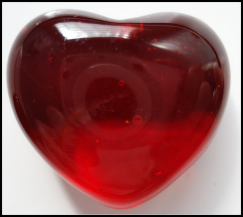 21X23MM GLASS SIAM RED PLUMP HEART CABS