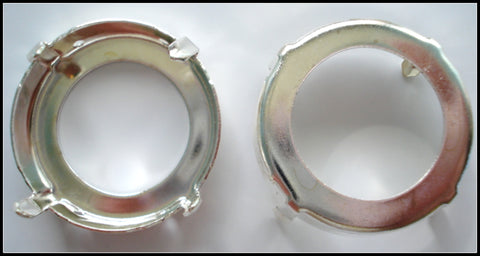 27MM (F1201) ROUND SILVER PLATED SEW ON