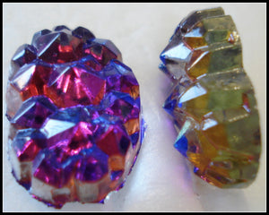 18X13MM (0105) HELIOTROPE GLASS NUGGETS