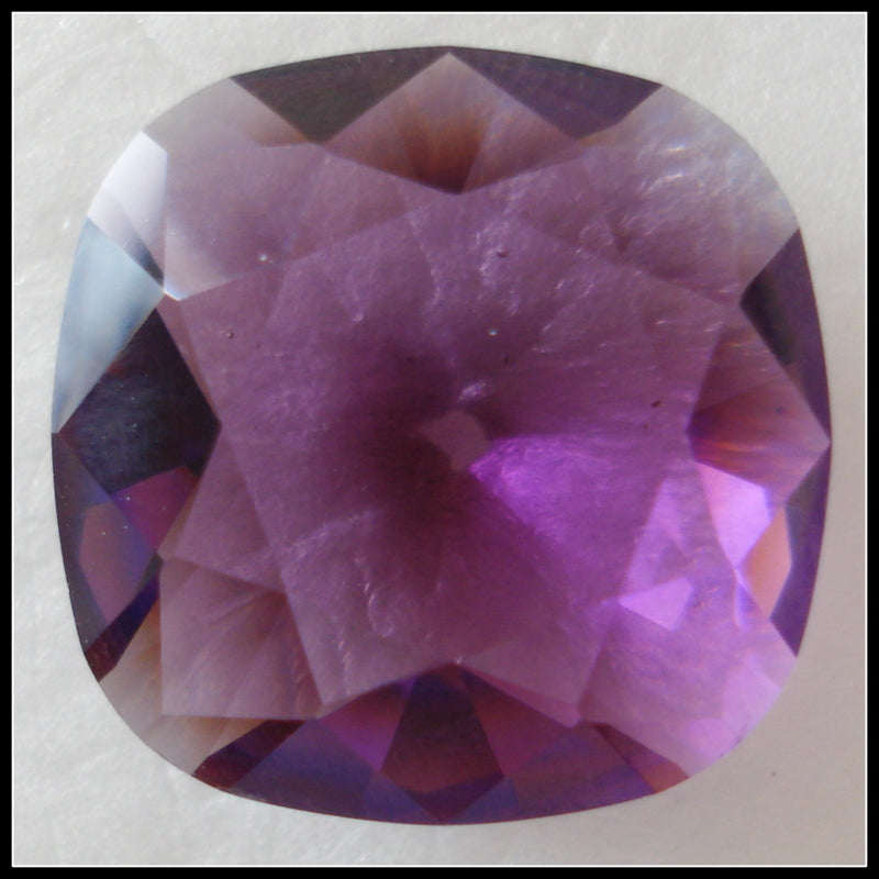 18MM (4470) UNFOILED AMETHYST ANTIQUE SQUARES