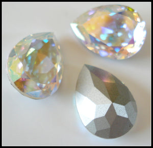 18X13MM (4320) CRYSTAL AB PENDALOQUES