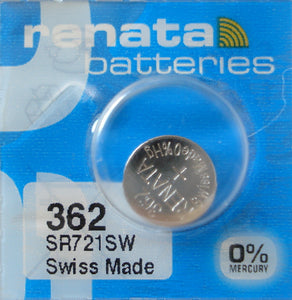 WATCH BATTERY #362