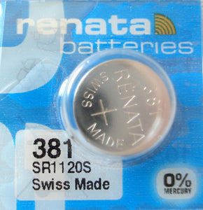 WATCH BATTERY #381