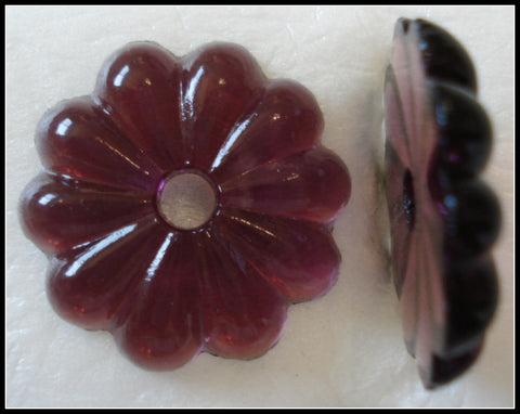 24MM AMETHYST COLOR GLASS FLOWER STONES
