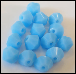 4MM (5000) GLASS CZECH TURQUOISE BICONE BEADS